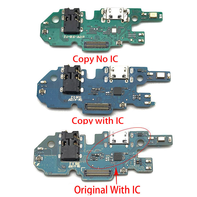 For Samsung Galaxy A105F A10 A105 USB Charger Dock Connector Charging Port Microphone Flex Cable Replacement Parts