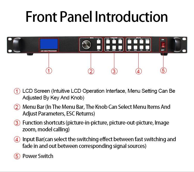Ao ar livre display led processador ams-lvp613