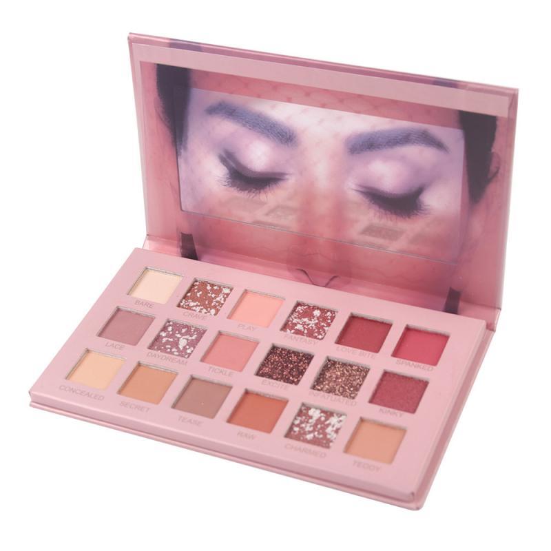 18 Color Nude Shining Eyeshadow Pearlescent Eye Shadow Glitter Pigment Smoky Eye Shadow Pallete Waterproof Makeup CosmeticsTSLM2
