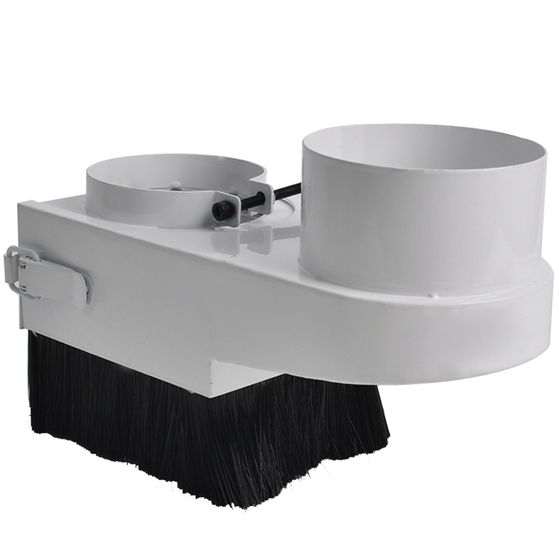 Hot 90Mm DIY CNC Tool Dust Cover Collector Series Blue Brush Vacuum Cleaner For CNC Spindle Motor Woodworking