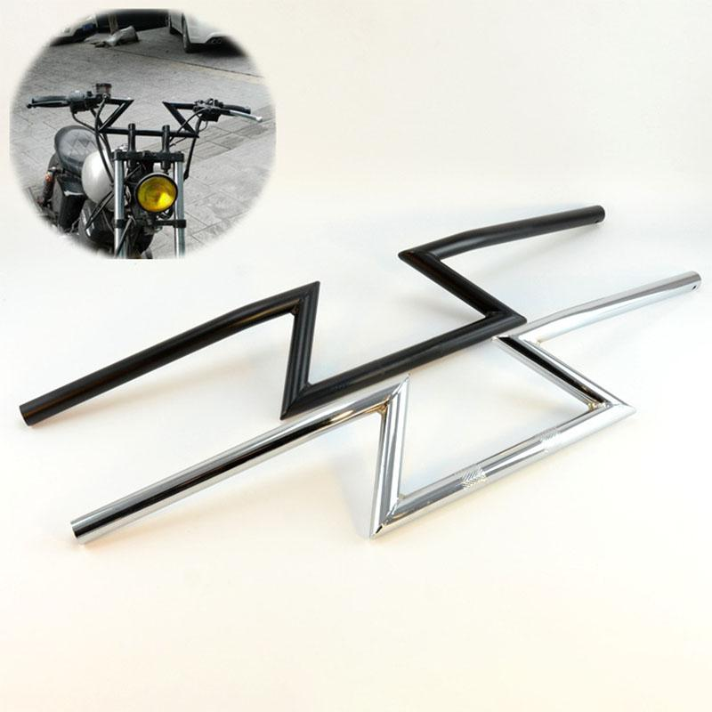 HiMISS 7 8 inch22MM Motorcycle Handlebar Z Bar Common for Honda Yamaha Suzuki Kawasak