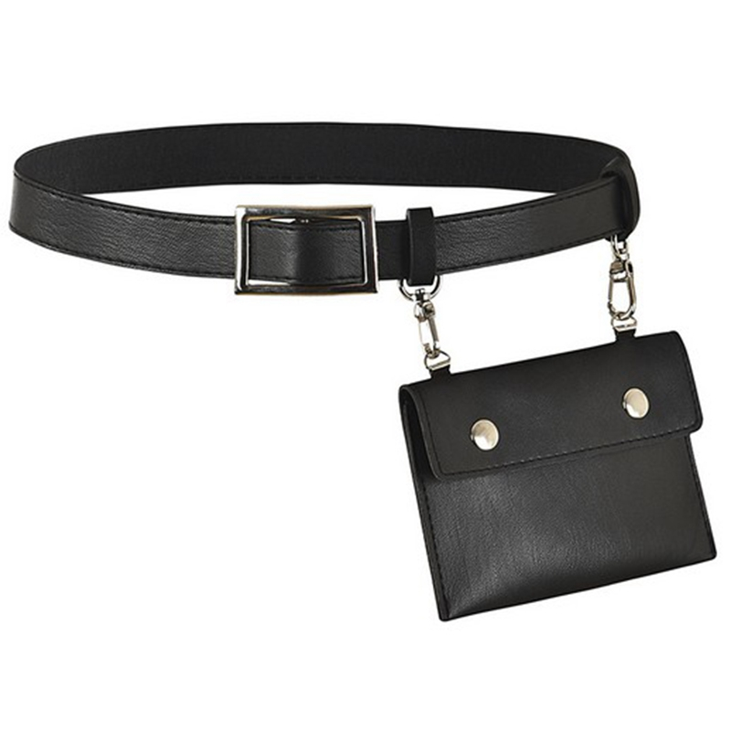 JHD-Leather Fanny Pack Mens Waist Belt Bag Womens Purse Hip Pouch Travel Sash Bag