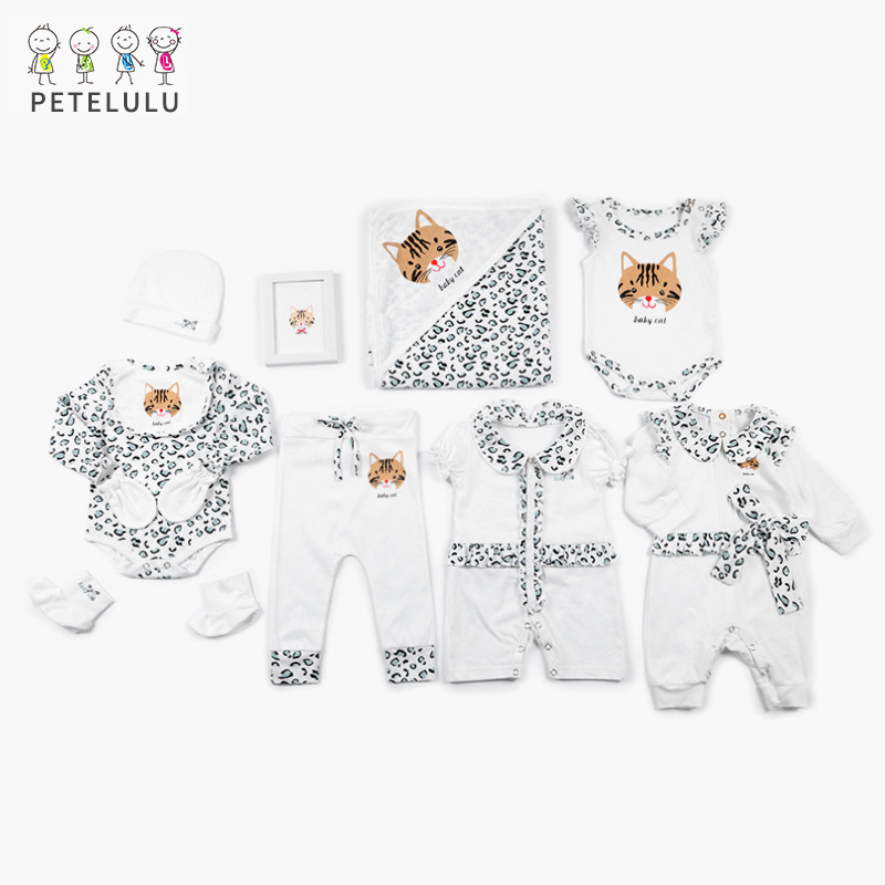 INS Hot Selling Baby Gift Package Clothes Summer Newborns Clothes Pure Cotton Newborn Baby Underwear Suit Processing