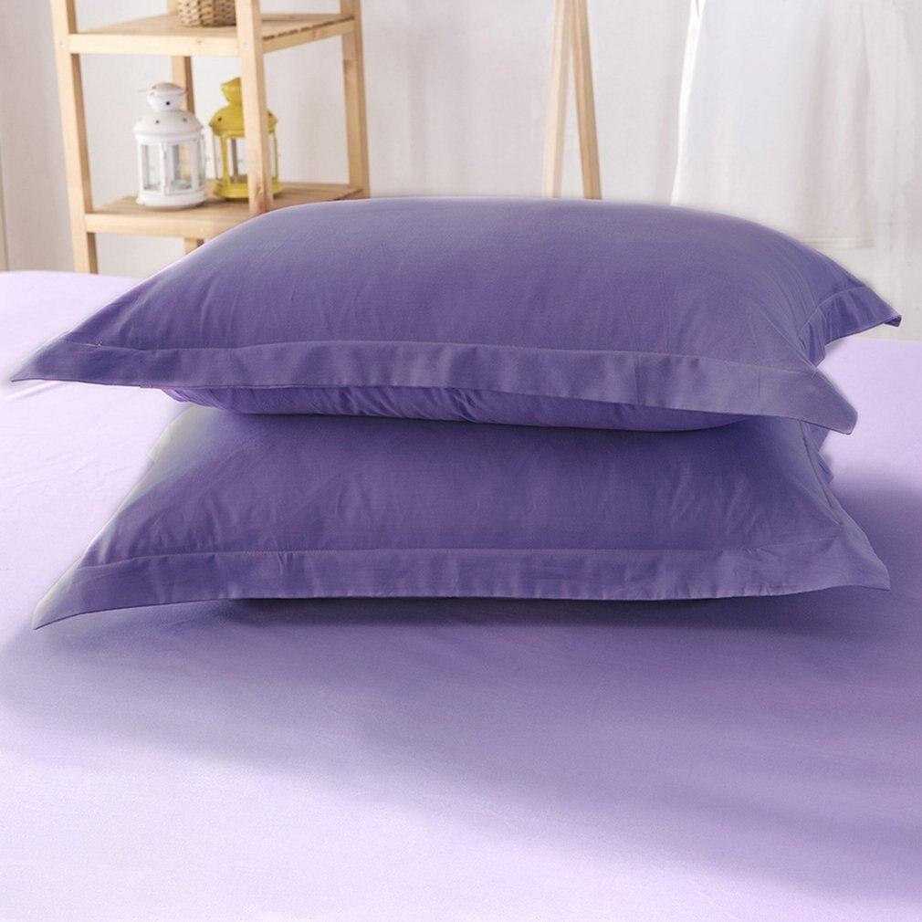 Modern Design Solid Color Pillow Case Full Cotton Bed Pillowcase 48cmx74cm Pillow Cover Super Soft Pillowcase Cover
