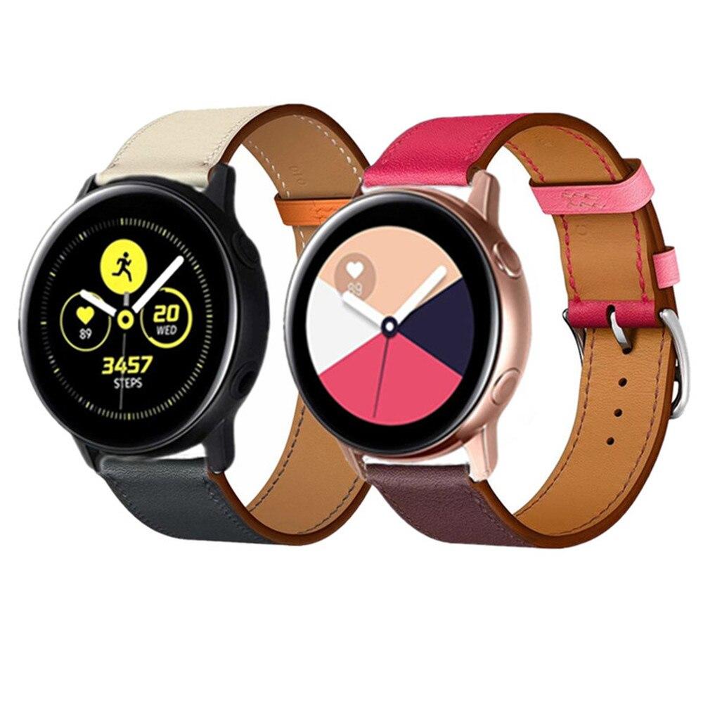 Ремешок huawei 20 22 мм для Samsuang Gear S3 s2 sport Galaxy Watch Active 42 мм 46 мм, кожаный браслет для huami amazfit pebble time
