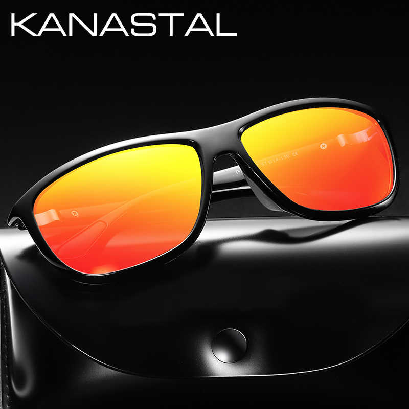 KANASTAL מותג מעצב גברים משקפי שמש מקוטב Eyewear אביזרי כיכר מסגרת נהיגה משקפיים שמש זכר משקפי צל UV400