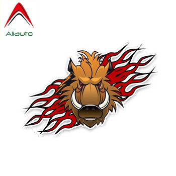Aliauto Animal Car Stickers Angry Wild Boar Vinyl Decals Cover Scratches for Toyota Hilux Hyundai I40 Bmw E92 , 16cm*11cm image
