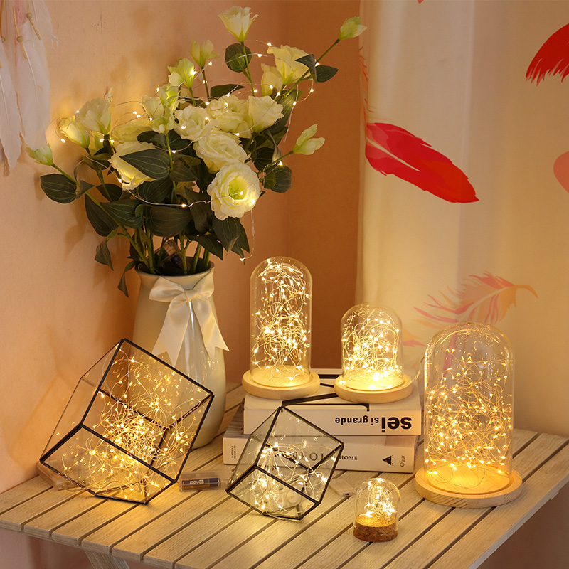 5m10m Copper Wire LED Light Garland Flexible Fairy String Lamp Bedroom Decoration Indoor Wedding Party Lights For Xmas New Years