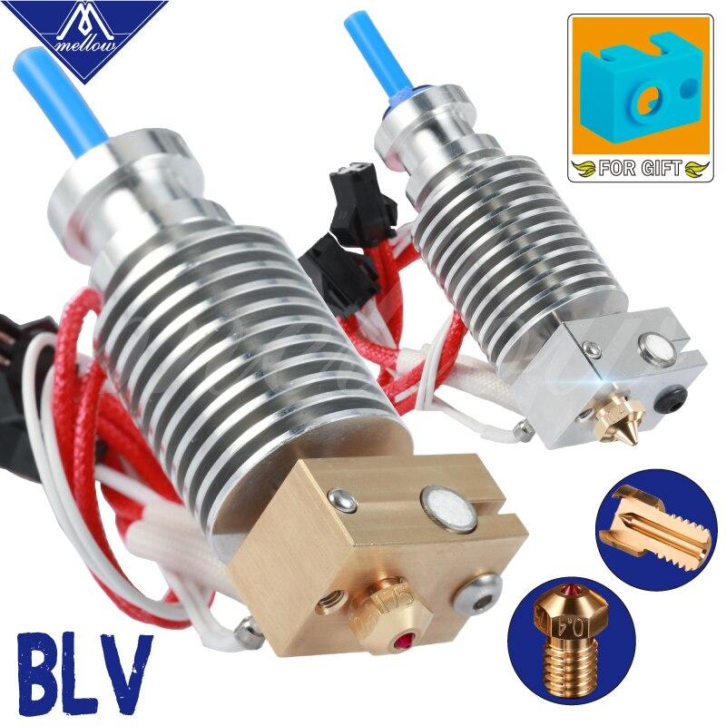 3D Printer Blv Mgn Cube V6 Brass Ruby Nozzle Hotend For 12v 24v 40w Cartridge And Thermistor E3D V6 Prusa I3 Mk3s Mk2 2 5