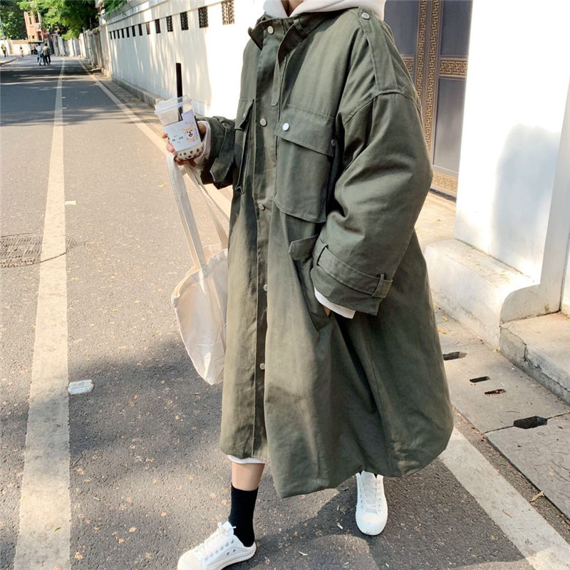 Alion Men Casual Lapel Down Coat Loose Thicken Solid Parka Jacket