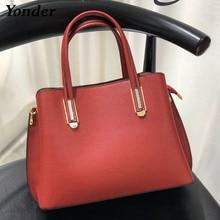Yonder 100% tote handbags women's genuine leather bag ladies