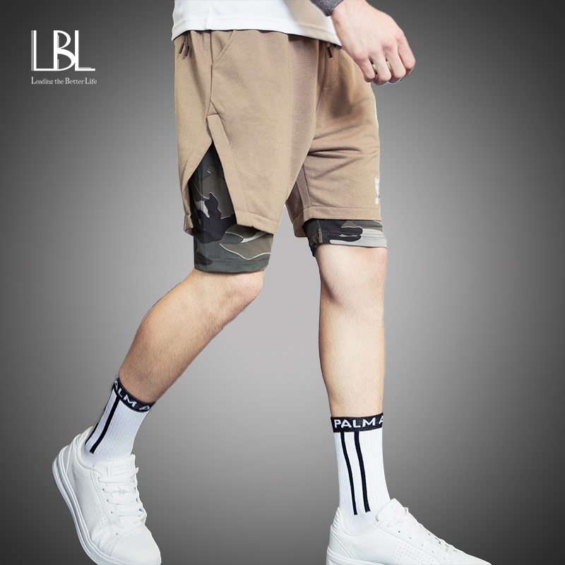 Men's Built-in Pockets Shorts New Jogger Fitness Brand Mens Sports Pants Summer Fashion Streetwear Running Workout Sportswear