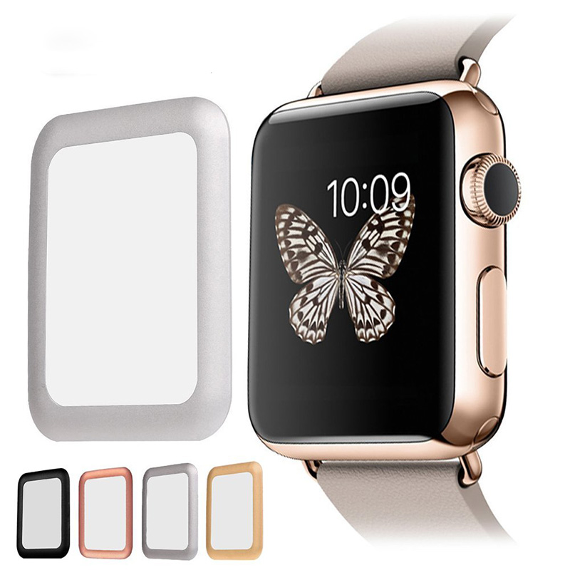 3D Metal Protective Film Case for Apple Watch Accessories 38/42MM Protective Shell for iWatch Series 1 2 3 4 5 Table Attachment