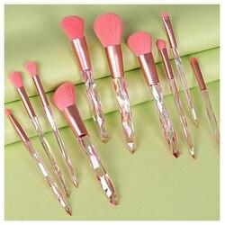 10 Pcs/set Makeup Brushes Set Face Foundation Powder Blush Contour Eyeshadow Eyebrow Cosmetic Blending Make Up Brush Tools Kit