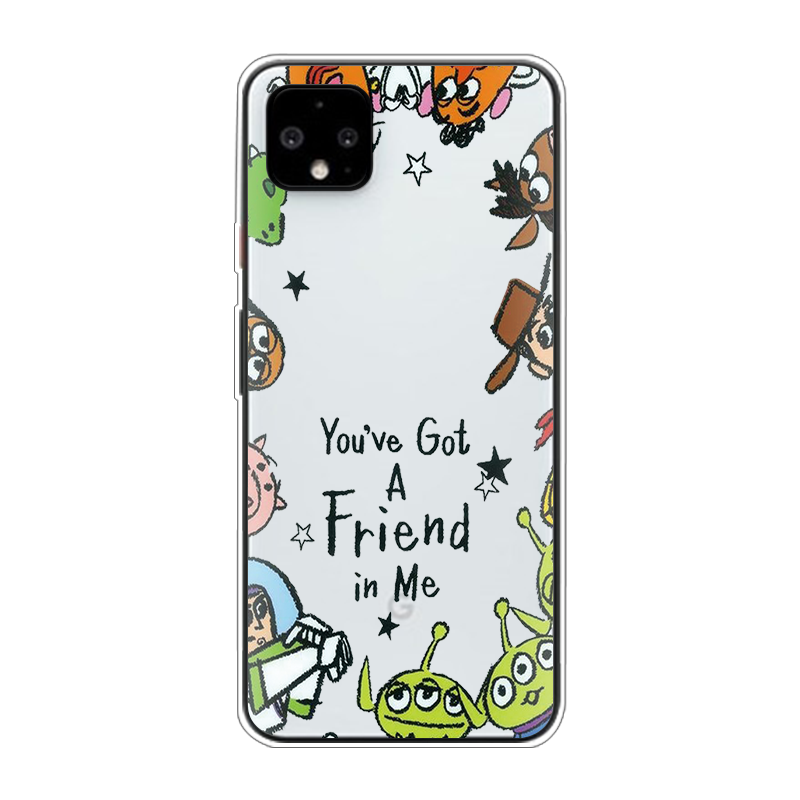 Cute Toy Story Cartoon Woody Buzz Lightyear Phone Case For Google Pixel 4 XL Soft TPU For Google Pixel 3A 3 2 XL 4 Silicon Cover