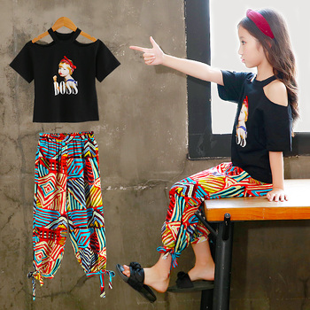 Girls Sets Clothes Kids Fashion Tops Pants Two Piece Set Children Summer Suit Girls Outfits 4 5 6 7 8 9 10 11 12 13 14 Years
