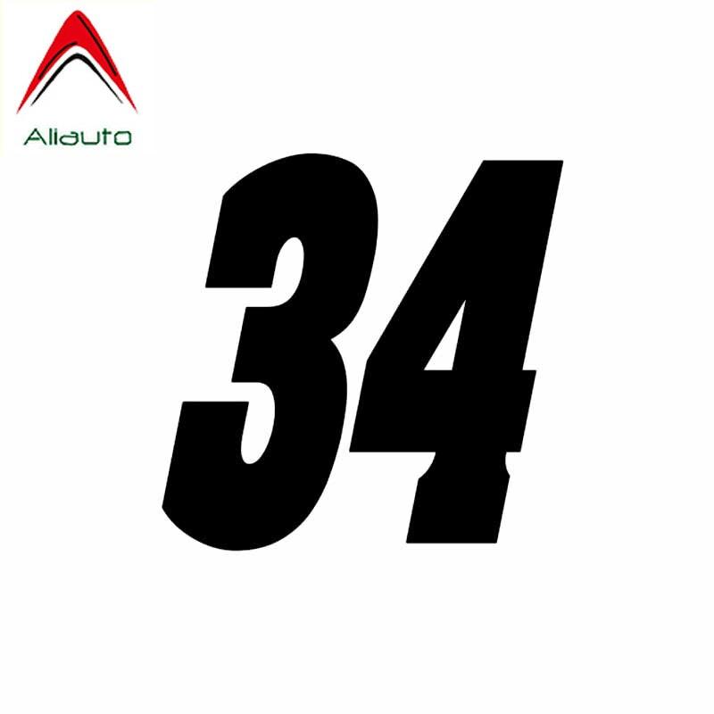Aliauto интересный номер 34 ПВХ Высококачественная Автомобильная наклейка украшение Солнцезащитная Водонепроницаемая Светоотражающая наклей...