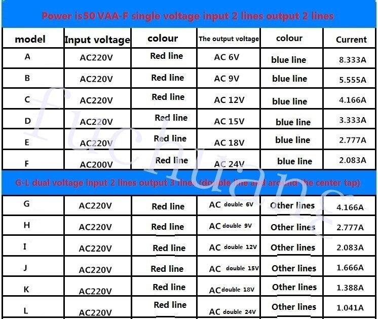 Transformador 380V220V 50W de potência transformador de
