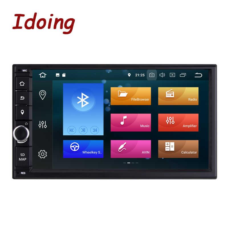 "Idoing 2 Din 7 ""PX6 4G + 64G Hexa-Core Android 9.0 Bluetooth 5.0 Hdmi Usb universele Auto Gps Navi Dsp Radio Multimedia Speler Geen Dvd"