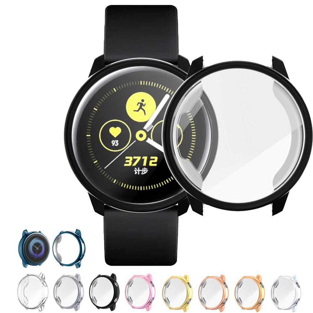 Чехол для Galaxy Watch active для Samsung galaxy watch active, 40 мм, SM-R500, бампер, HD, полное покрытие, защитный чехол для экрана