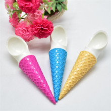 Ice-Cream-Bowls Cones Dessert Homemade-Tube 1pc Cute with Spoons Wonderful Gifts Children