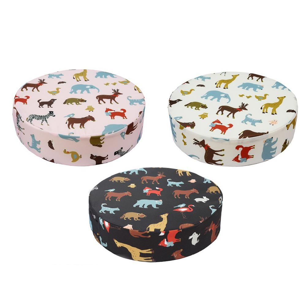 Baby Kids Sponge Leather Chair Booster Cushion Dining Chair Child Increase Height Seat Pad Mat Cushions Cute Little Animal