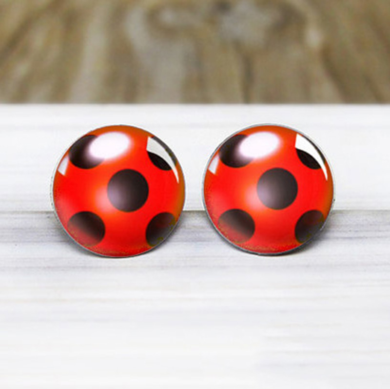 2021 New Arrival Ladybugs Insect Stainless Steel Plated Earrings Jewelry Cute Ladybbug Stud Earrings Handmade Jewelry Gifts