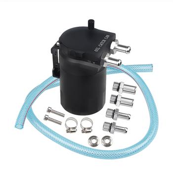 Uniwersalny aluminiowy zbiornik paliwa złapać puszkę zbiornik separator oleju pneumatycznego tanie i dobre opinie 0 71kg Oil catch can 6 8inch 2019 11 8inch Aluminum Alloy