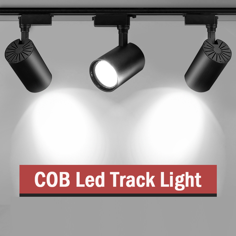 Led Track Licht Lamp Armatuur 3 Kleuren Hanger Spotlight Plafondlamp 12W 20W 30W 40W Track verlichting 220V Voor Kleding Winkel
