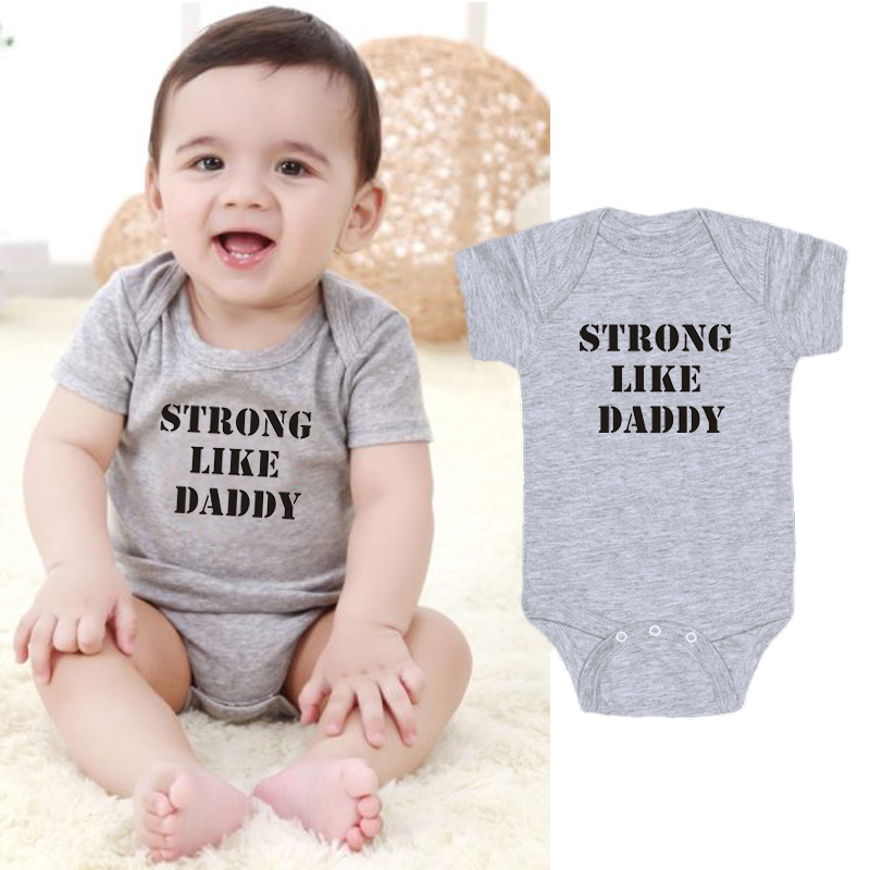 Letter Printing New Born Baby Clothes One-Pieces Baby Onesie Rompers Toddler Infant Boys Clothing Jumpsuit Outfits
