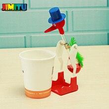 Милый счастливый Ретро стеклянная питьевая вода птица утка Bobbing Dippy игрушка с надписью Lucky Einstein Новинка Развивающие игрушки для детей