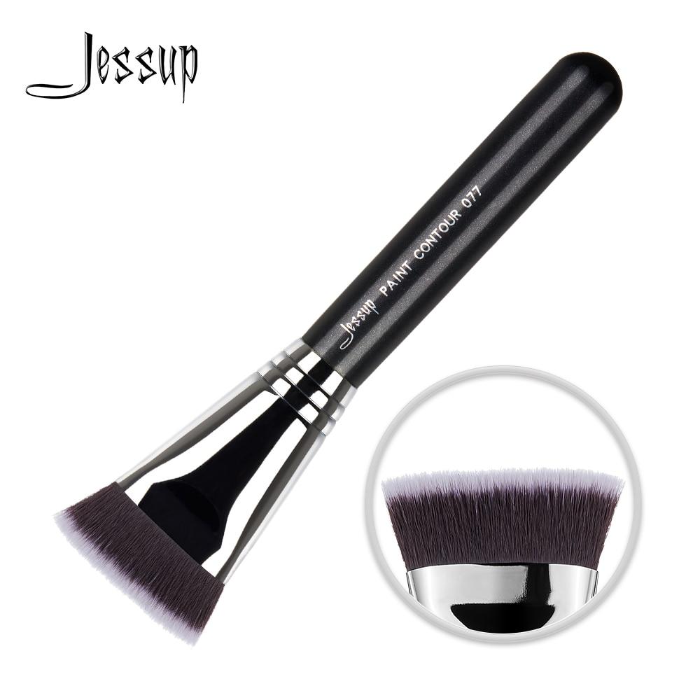 Jessup pincel para Maquillaje facial de contorno, herramienta cosmética de belleza, mango de madera de fibra profesional para el cabello, venta al por mayor, 077|rizador de pestañas| - AliExpress