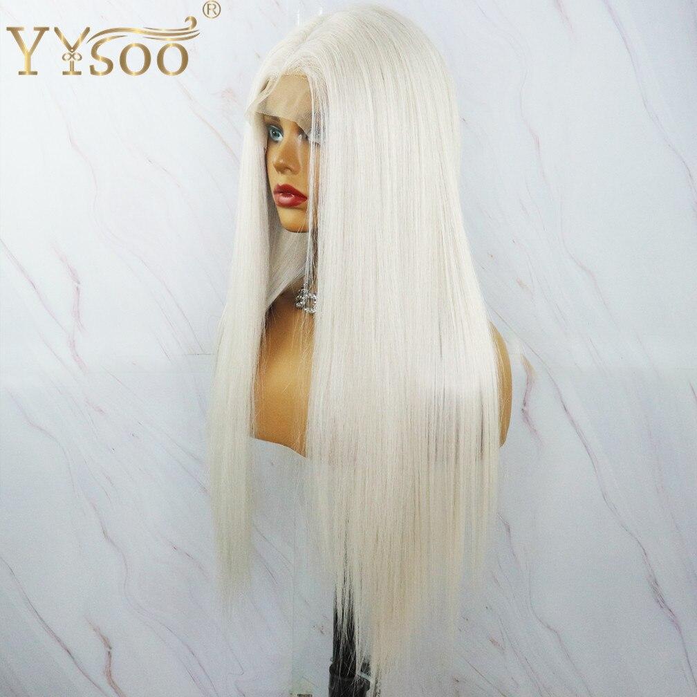Yysoo #60 cor longa futura perucas de