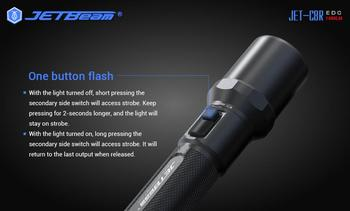 JETBeam C8R 1480 Lumens 21700 Battery EDC flashlights Cree LED USB Charge For Camping Hiking Hunting Fishing Accessories