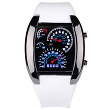 Fashion Men Watches Led Digital Race Speed Car Dot Sports Silicone Strap Electronic reloj hombre