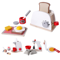 1 Set of 4Pcs Wooden Simulation Tableware Toys DIY Pretend Play Kitchen Toys Pretend Role Play Toys Playing House Toys White (1P