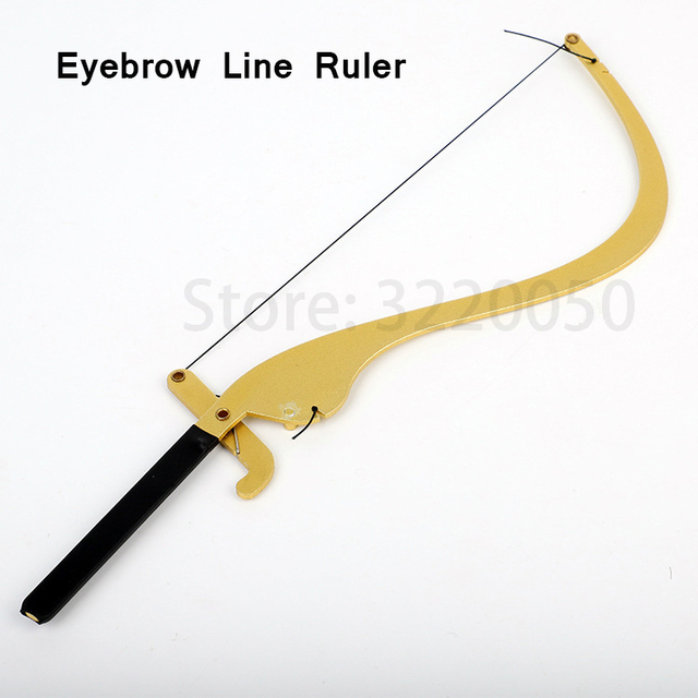 Microblading Line Marker Ruler Permanent Tool Accessory with10pcs Thread Lines Eyebrow Design Measure Ruler Makeup Supplies Kits