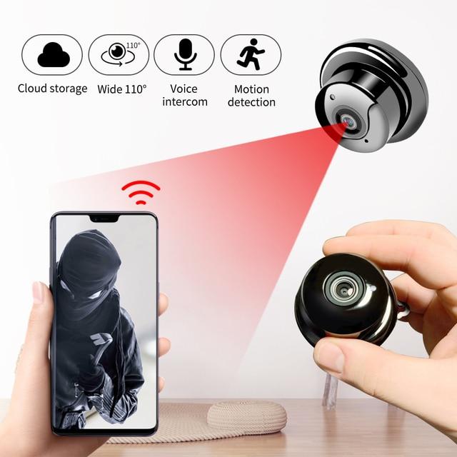Small P2P Full HD1080P Mini Wireless WIFI IP Camera Night Vision Mini Camcorder for Home office Security CCTV Micro Camera v380
