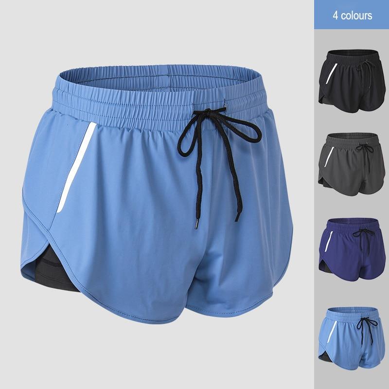 Hot Women Quick Drying Shorts Night Reflective Strips Fitness Sports Short Pants K2