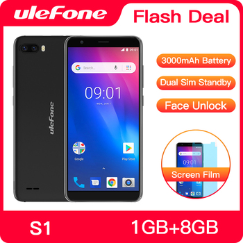 Ulefone S1 Pro Mobile Phone Android 8.1 5.5 inch 18:9 MTK6739 Quad Core Face ID 16GB ROM 13MP+5MP Rear Dual Camera 4G Smartphone