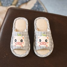Soft home slippers with Bear Winter Summer Autumn cotton slippers fashion house shoes for Kids Adult comfortable floor shoes diji girls soft coral velvet floor home indoor slippers quiet cotton fluffy slippers for women comfortable shoes black