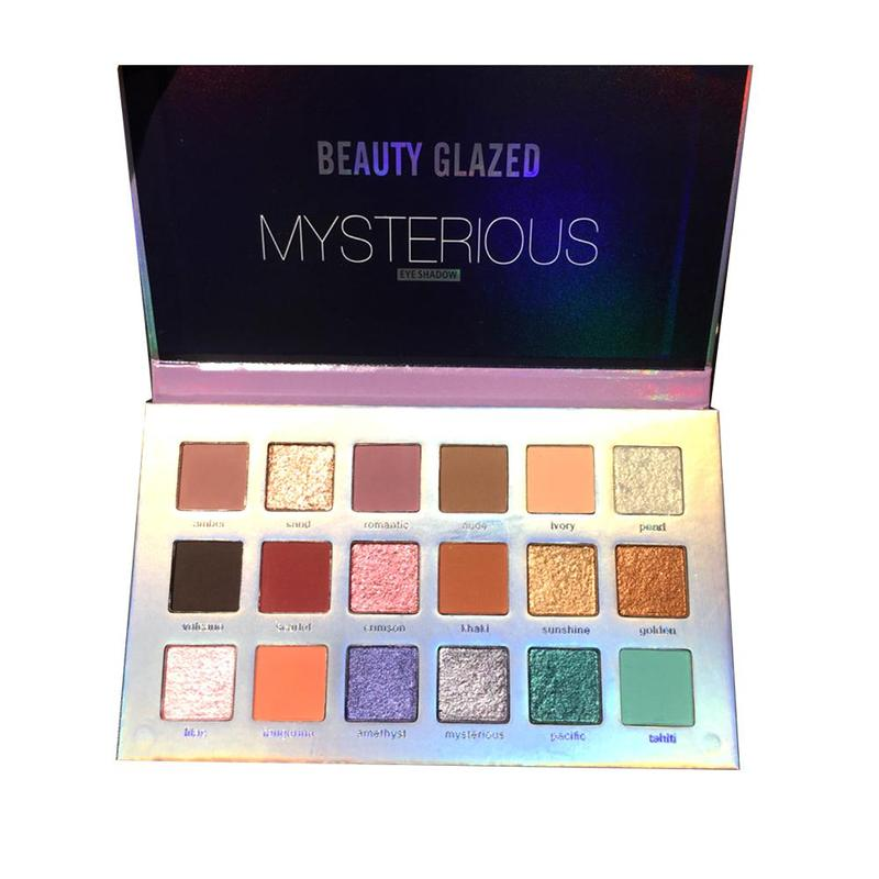 Beauty Glazed 18 Colors Mysterious Eyeshadow Palette Matte Glitter Eye Shadow Makeup Nude Shinning Shadow Pigment Makeup Sombra