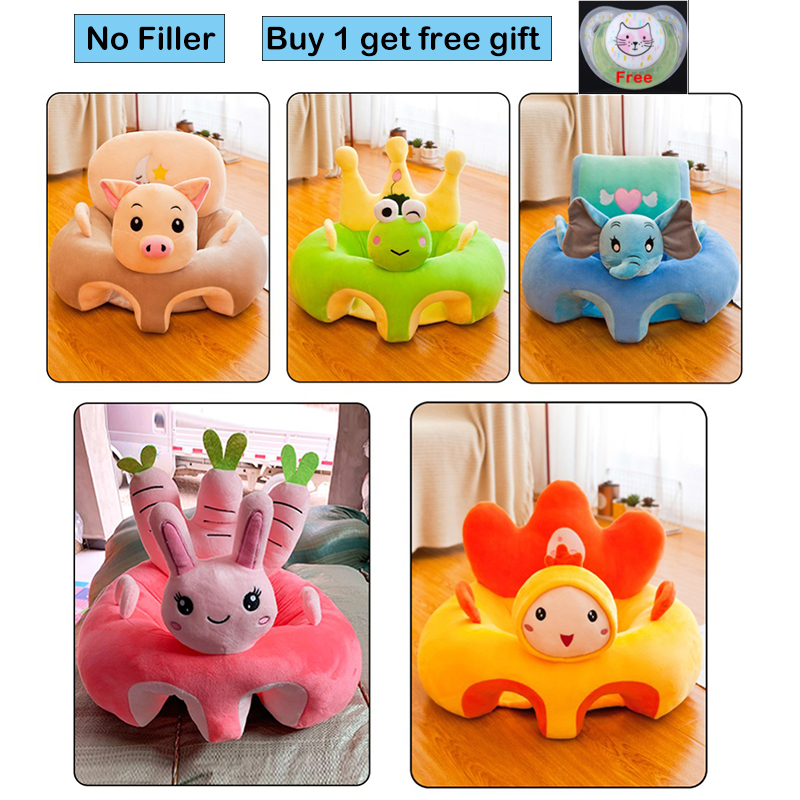 Baby Sofa Seat Support Cover Car Seat Learn To Sit Baby Plush Sofa Without Filling Baby Cartoon Animal Plush Chair Baby Toy Sofa
