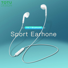 TOTU Wireless Bluetooth Earphone Stereo Sports Waterproof Earbuds Wireless in-ear Headset with Mic for iPhone Samsung Xiaomi top selling wireless bluetooth earphone in ear stereo waterproof sports headset earbuds for iphone samsung lg htc huawei et1