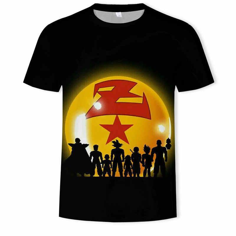 Nieuwste Dragon Ball T-shirt 3d Super Saiyan Dragonball Z kids Goku Tshirt korte mouw Vegeta T-shirt Mannen Top Plue size 6XL