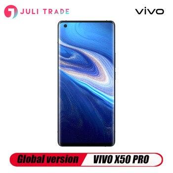 Перейти на Алиэкспресс и купить Глобальная версия VIVO X50 PRO 5G Смартфон Snapdragon 76 5G Google play Quad Camera
