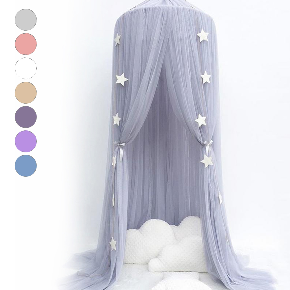 Kid Baby Bed Bedcover Mosquito Netting Curtain Bedding Dome Tent Room Decor Kid Bed Curtain Net Dome Princess Bed Canopy