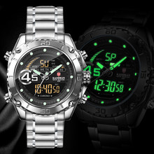 9054 Pria Jam Tangan Fashion Sport Super Cool Kuarsa LED Digital Watch 30M Tahan Air Jam Tangan Pria Clock Relogio Masculino(China)