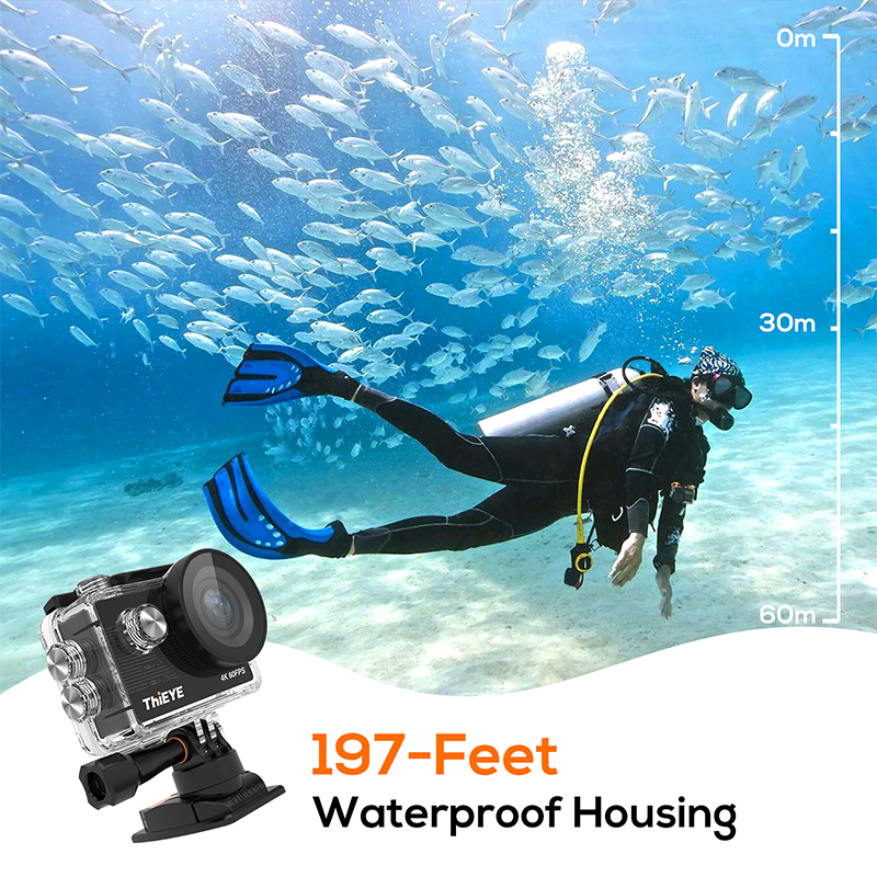 ThiEYE T5 Pro Echte Ultra HD 4K 60fps Touch Screen WiFi Action Kamera Mit Live-Stream Fernbedienung 60M unterwasser Sport Kamera