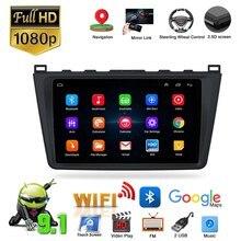 2 din 9 android android android 9.1 carro rádio estéreo carro multimídia jogador de vídeo gps navegação mp5 player fm para 2008-2012 mazda 6